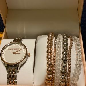 Steve Madden beautiful combo watch and bracelets